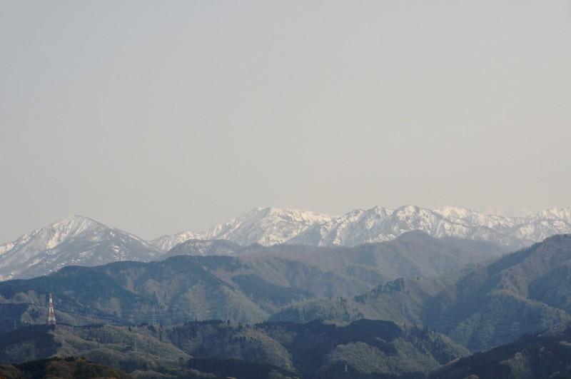医王山からの白山ひょっこりはん!w