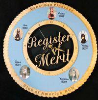 Register of Merit Wall Clock