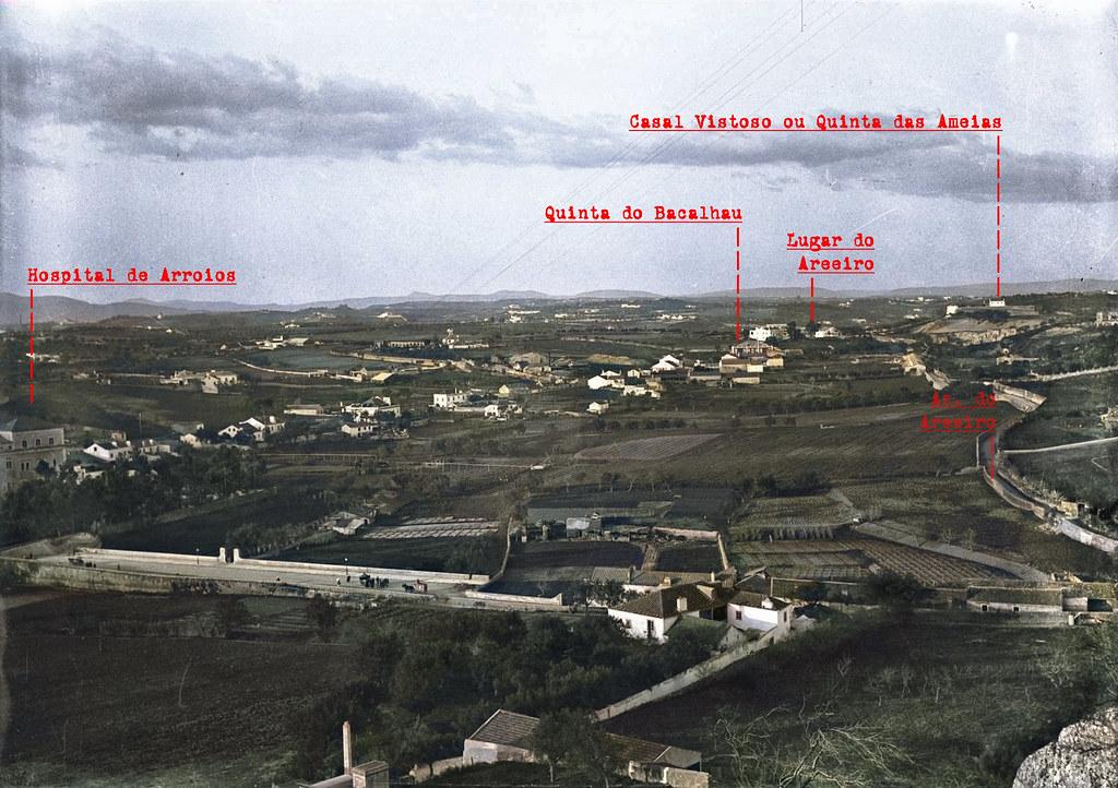 Panorâmica da Penha de França para Norte, Lisboa (J.A.L. Bárcia, c. 1909)