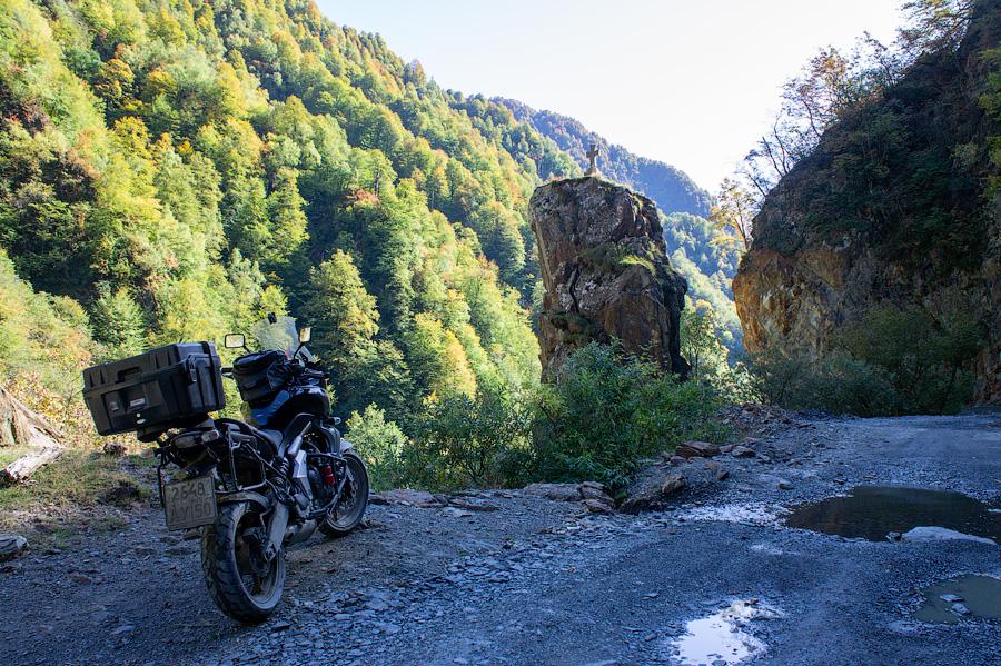 Горная дорога в Омало, Грузия