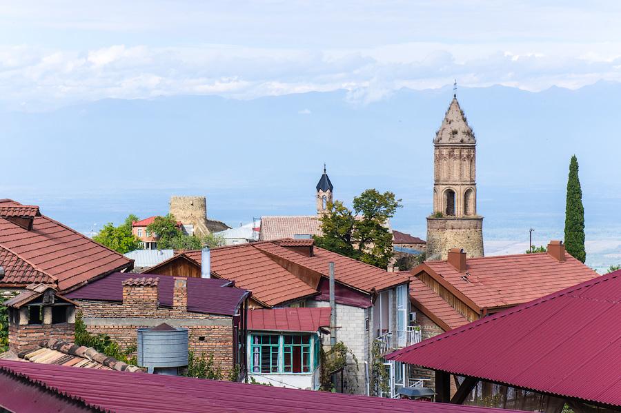 Крыши города Сигнахи, Грузия
