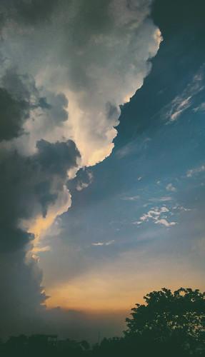 sky cloud evening horizon goldensky beautifulsky