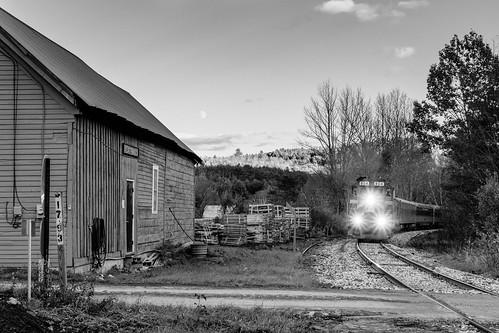 chester vermont unitedstatesofamerica blackandwhite bw monochrome green mountain railway vermontrailsystem