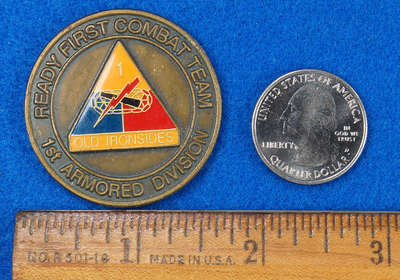RD16192 1st Brigade 1st Armored Division Ready First Combat Team RFCT Challenge Coin DSC03267