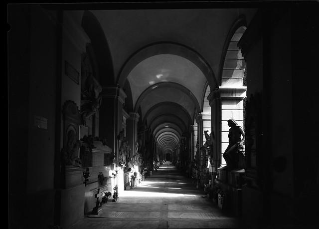 The gallery. Staglieno-Genova monumental cemetery