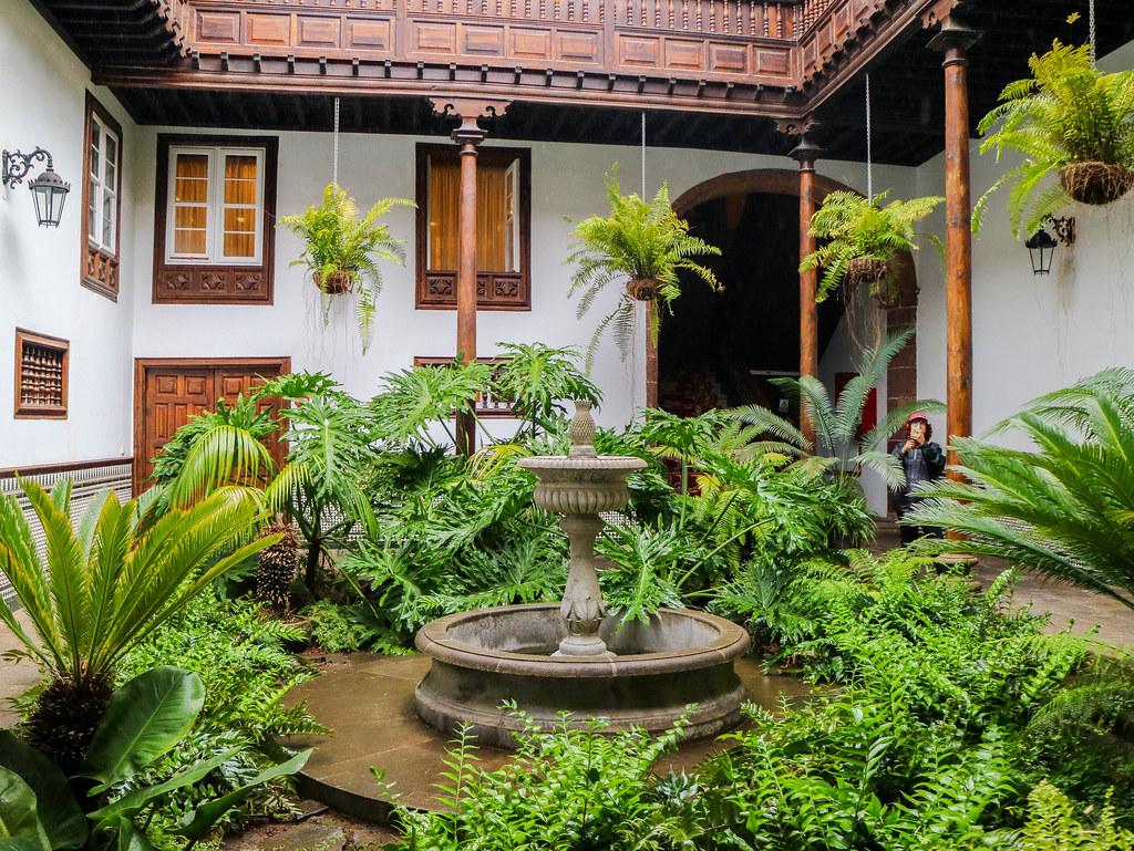 Interior de la casa Montañes en La Laguna en la isla de Tenerife