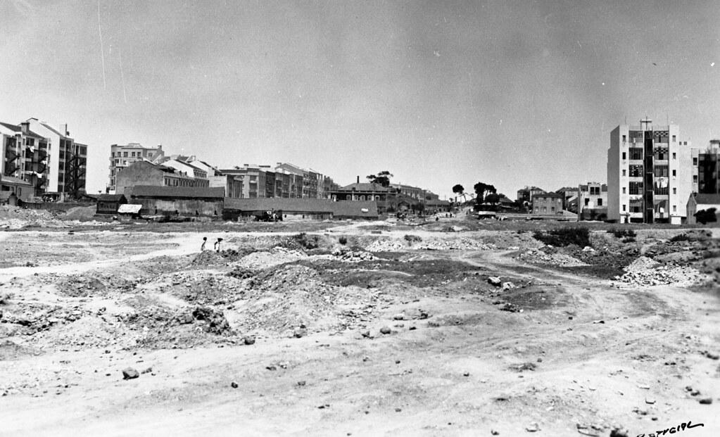 Terreplenagens na Alameda, Lisboa (E. Portugal, 1939)