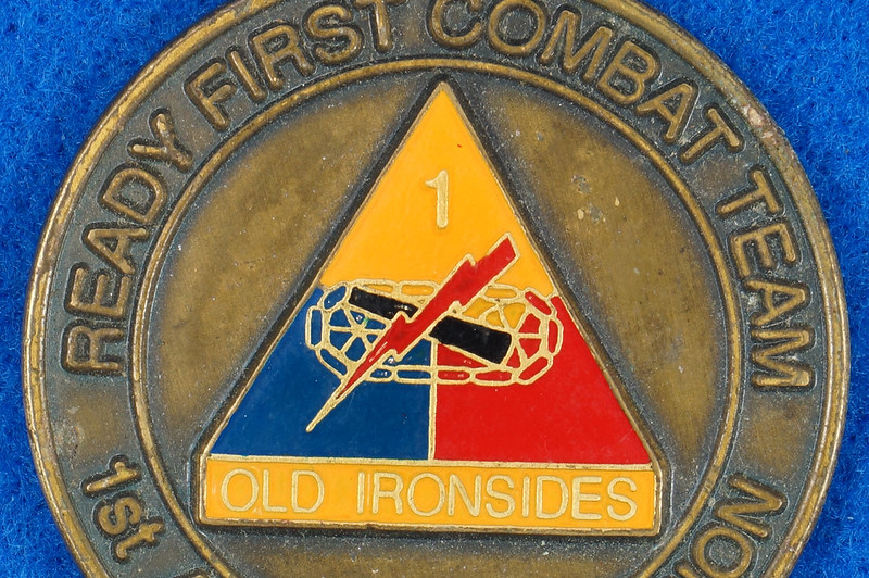 RD16192 1st Brigade 1st Armored Division Ready First Combat Team RFCT Challenge Coin DSC03270