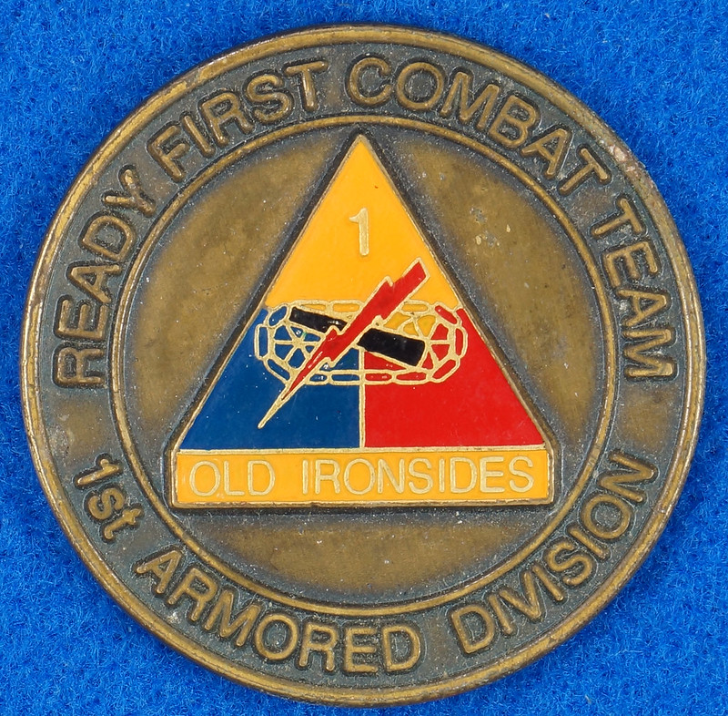 RD16192 1st Brigade 1st Armored Division Ready First Combat Team RFCT Challenge Coin DSC03268
