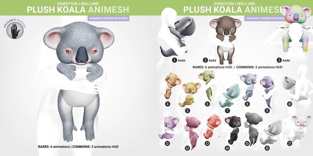 SEmotion Libellune Plush Koala Animesh