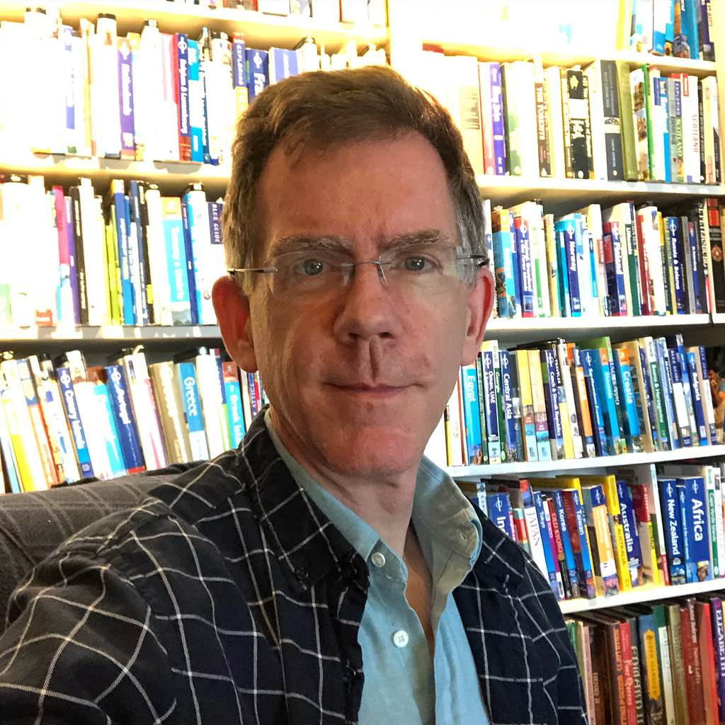 Paul With Idle Travel Books, Home Office During Quarantine