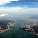 Victoria Harbour, Hong Kong and the old Kai Tak Airport runway