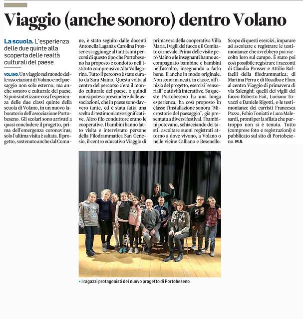quotidiano Il Trentino 1 maggio 2020