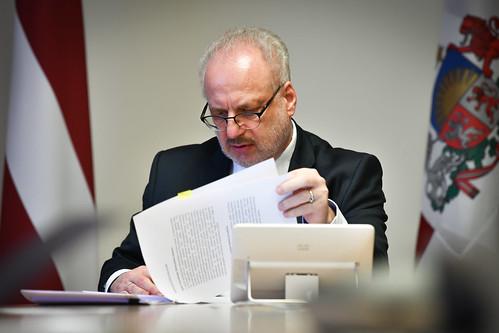 30.04.2020. Valsts prezidents Egils Levits piedalās virtuālā diskusijā ar ekonomistiem