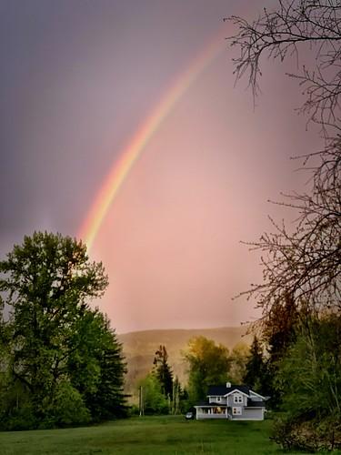 rainbow sunset henderson squalicumimages rain