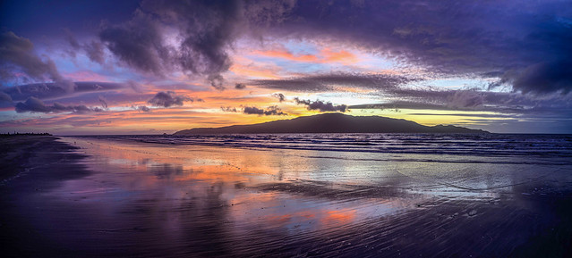 Sunset Reflection Panorama