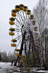 Pripyat giant wheel abandoned amusement park Chernobyl