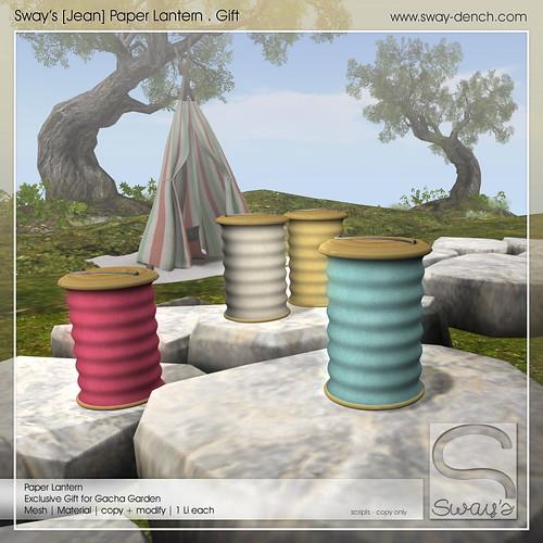 Sway's [Jean] Paper Lantern . Gift| Gacha Garden