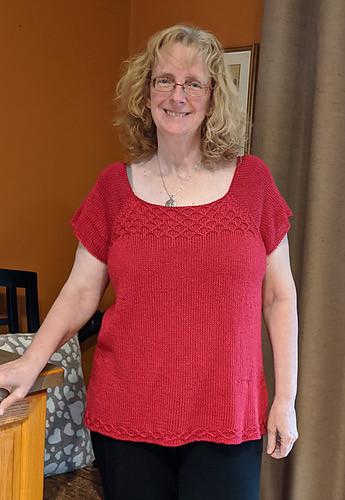 Linda's High Trestle Tee by Marie Greene looks fabulous on her!