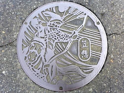Kasakake Gunma, manhole cover (群馬県笠懸町のマンホール)