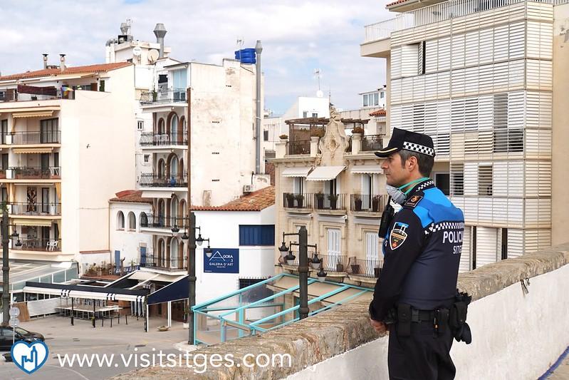 La Policía Local de Sitges continúa vigilando el cumplimiento de la normativa antiCOVID19