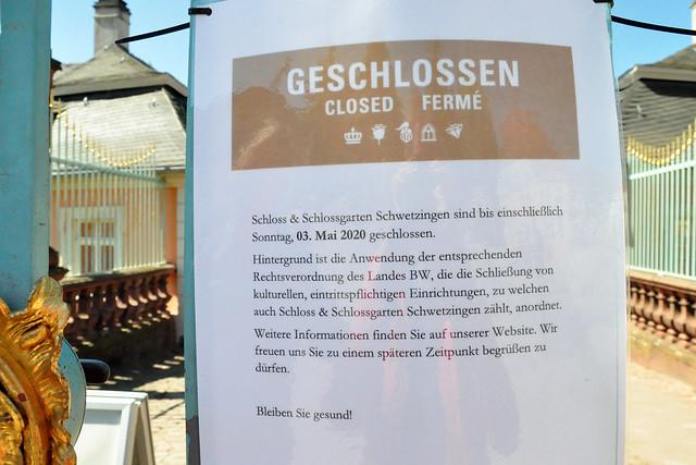 Corona-Virus 2020 ... Alles geschlossen in Schwetzingen ... Brigitte Stolle