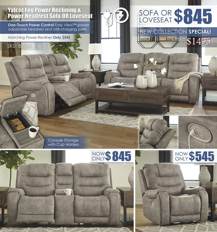 Yalcot Fog Power Reclining Sofa & Loveseat Layout_82001