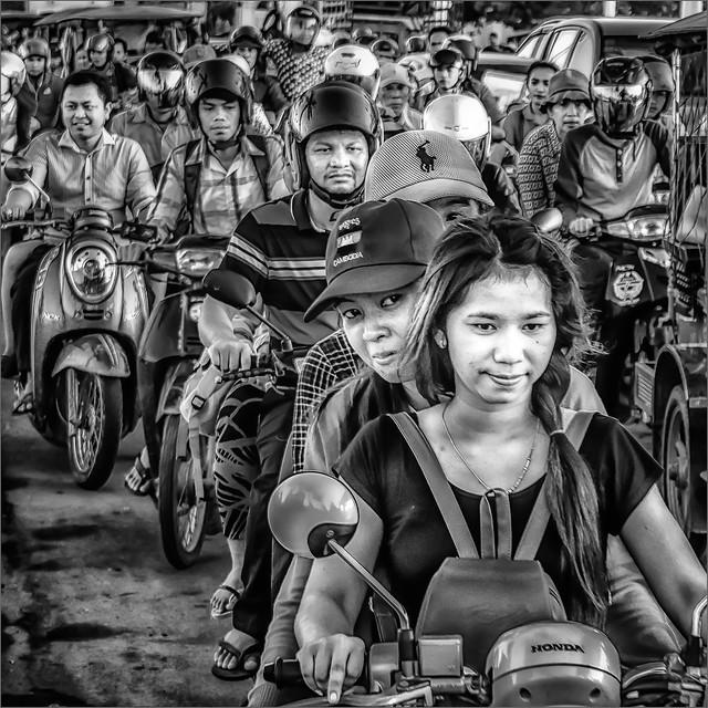 Rush hour in Phnom Penh