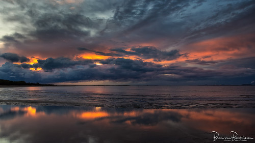 Sunset, Clouds and Reflections