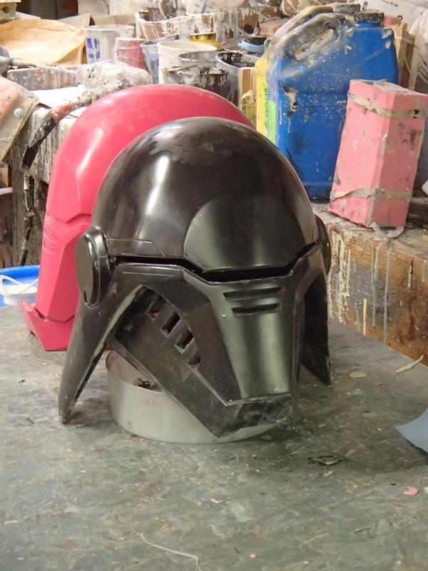 Trimmed helmet front quarter