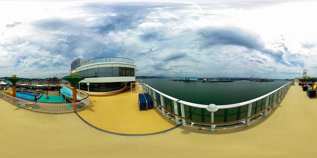 360° | Norwegian Jewel in the harbor of Shizuoka