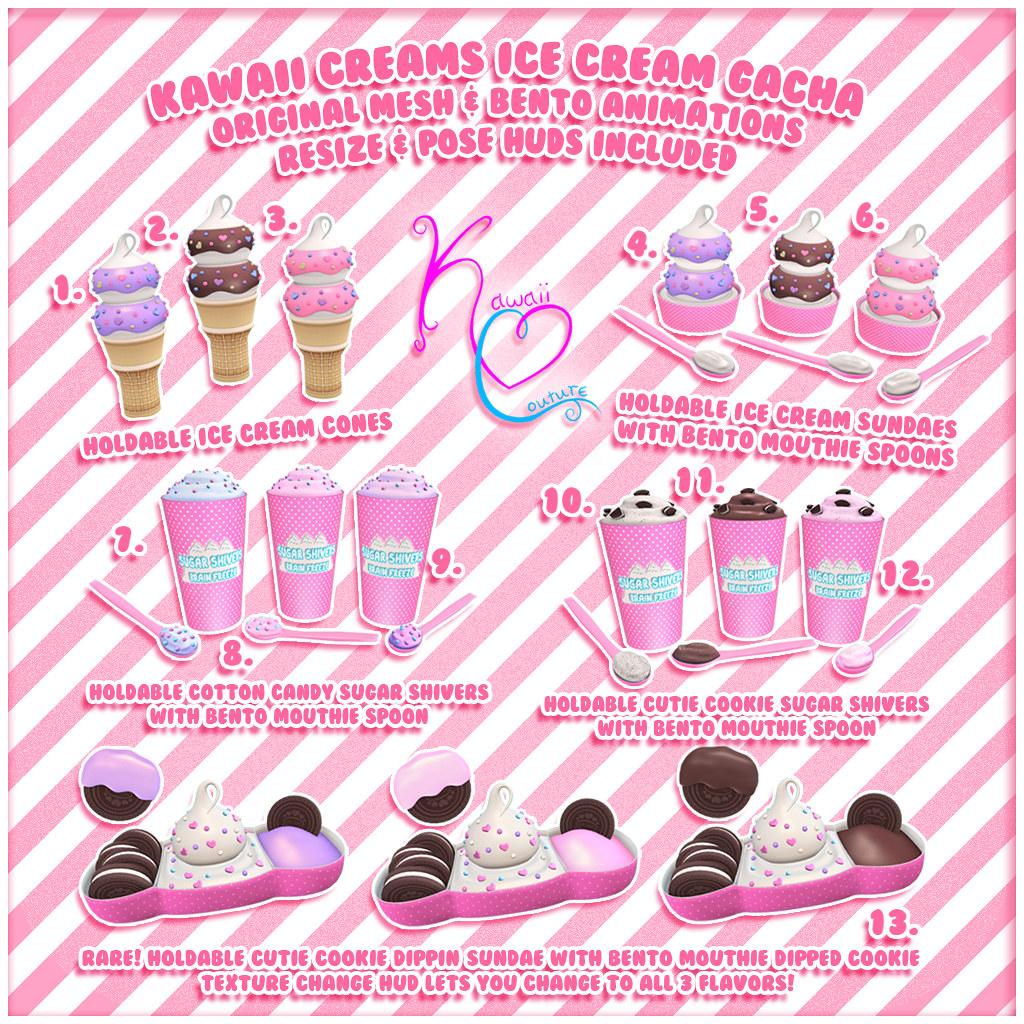 Kawaii Couture - Kawaii Creams Ice Cream Gacha KEY Ad 1