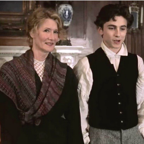 Laura Dern who plays Marmie March in the movie Little Women wears a Broderie Shawl that was the sample knit by @robin.krolikowski for Another Yarn Shop in Burlington, MA!