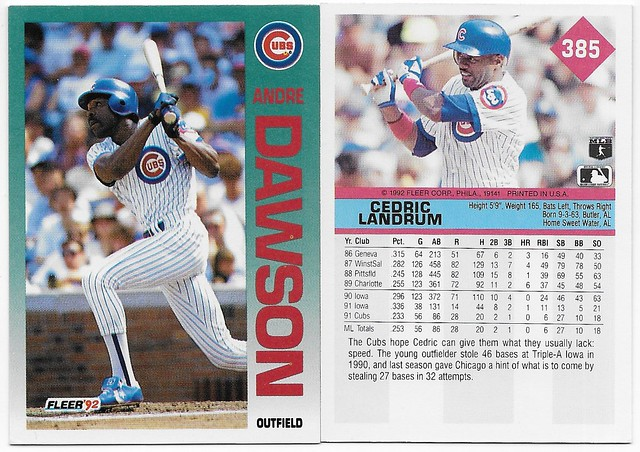 1992 Fleer Wrong Back (Dawson-Lanrdum)