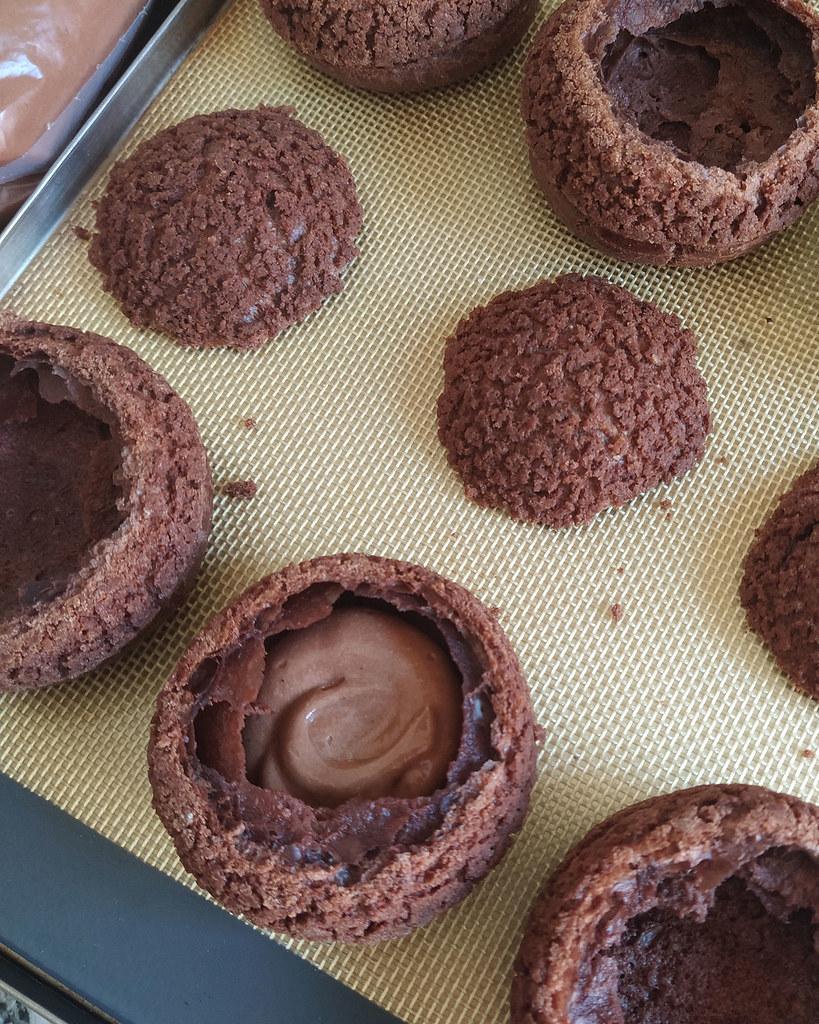 cómo hacer choux de chocolate