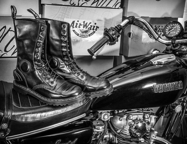 Dr Martens, the Neilson biker boot. . .