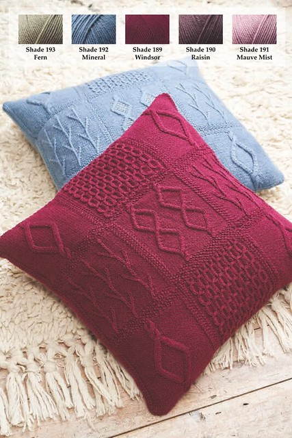 Martin Storey Pillows from the 2019 Rowan KAL are available as a kit including 5 balls of Rowan Pure Wool Superwash Worsted through the shop and drop shipped directly to you.
