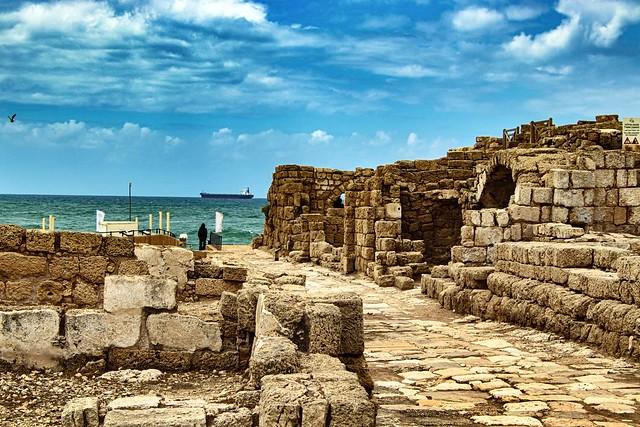 Ancient street in Caesarea