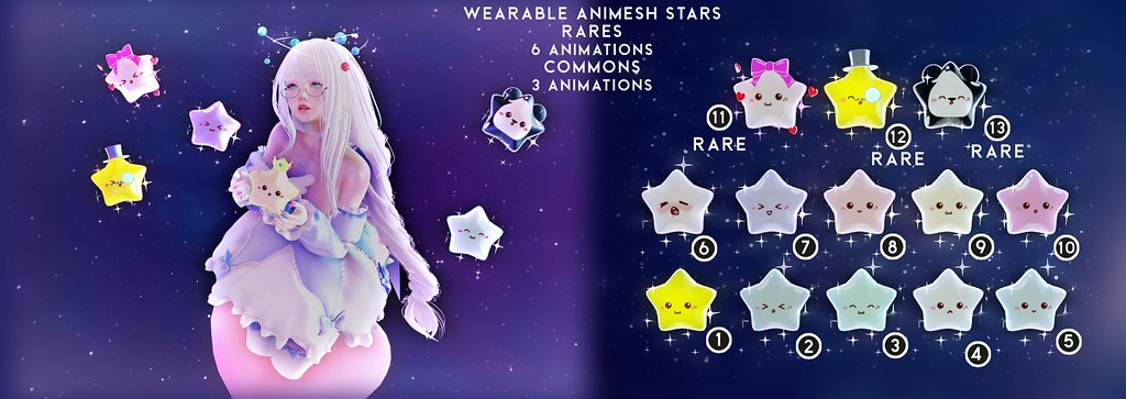 Skellybones Wearable Animesh Stars