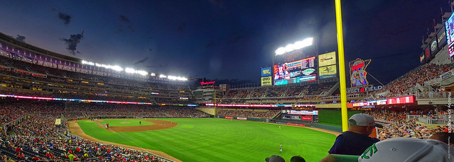 Twins-A's Game at Target Field (6th inning Pano), 18 July 2019