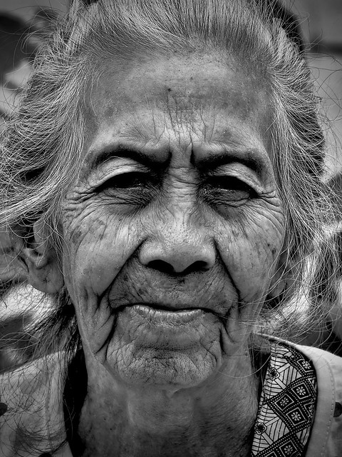 Faces; 105 year old Indonesian lady