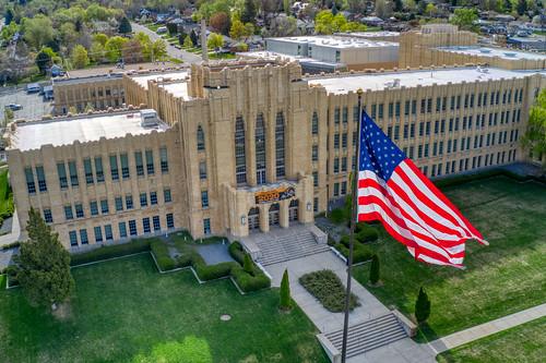 ogden ogdenhighschool drone aerialviews flag