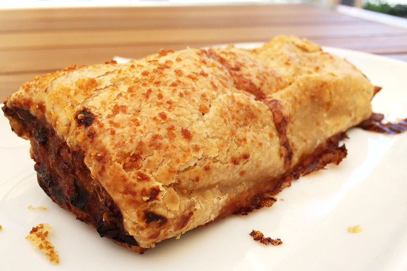 Chicken and sweet corn sausage roll