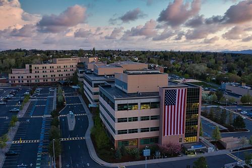 ogden mckaydeehospital intermountainhospitals flag drone aerialview