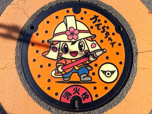 Kanra Gunma, manhole cover (群馬県甘楽町のマンホール)