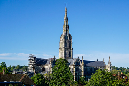 cathedral anglican architecture salisbury wiltshire cityscape outside