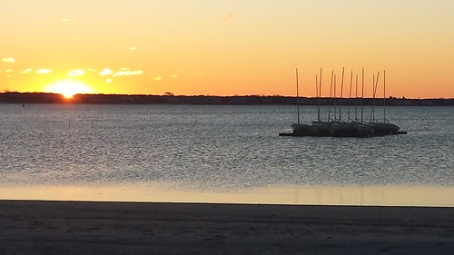 sailboats boats raft sunrise water ocean sea atlantic lewisbay sun saltwater hyannis barnstable capecod massachusetts