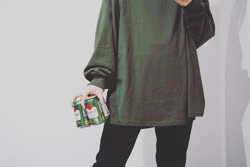 BASQUE magenta ビッグシルエットシャツ_02