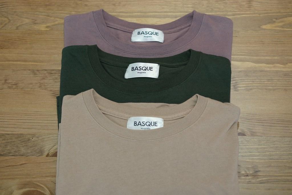 BASQUE magenta ビッグシルエットシャツ カラバリ