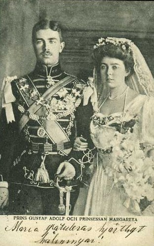 Wedding Prince Gustaf Adolf of Sweden with Princess Margaret Connaught